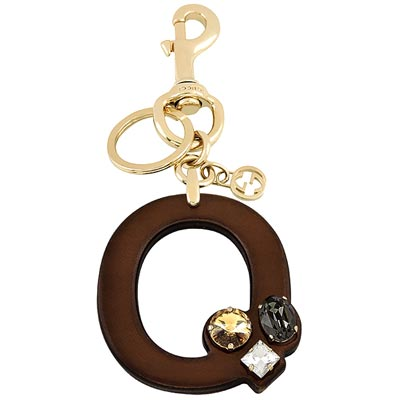 GUCCI 字母「O」水晶鑲嵌鑰匙圈
