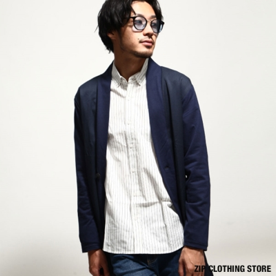 和風長版開襟外套 ZIP日本男裝