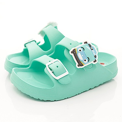 TAYO小巴士童鞋 超輕量雙絆帶拖鞋款 EI4704綠(中小童段)