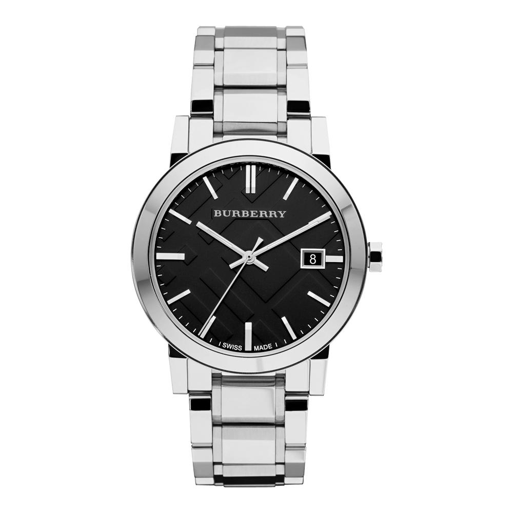 BURBERRY英倫城市經典時尚腕錶-黑x銀39mm