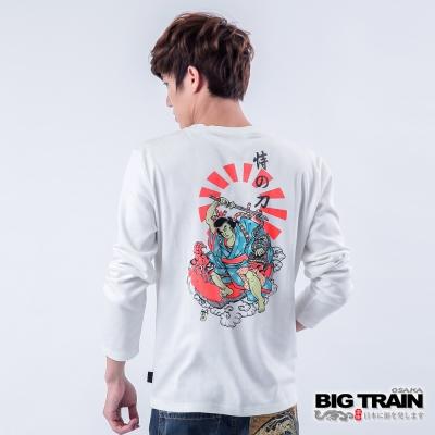 BIG TRAIN 恃之刀魂印花TEE-男-白