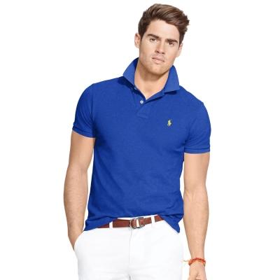 Ralph Lauren 短袖 POLO 素面 藍色 328