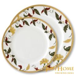 Just Home威尼斯高級骨瓷餐盤4件組(21cm及27cm各1個)