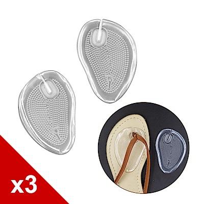 糊塗鞋匠 優質鞋材 D28 自黏夾腳拖前掌墊 (3雙/組)