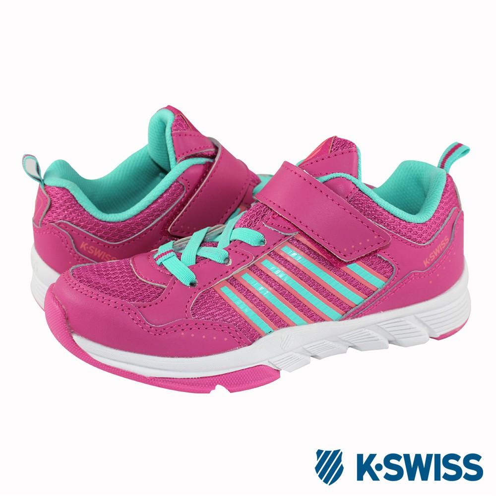 K-Swiss X Trainer VLC休閒運動鞋-童-莓紅/電光綠