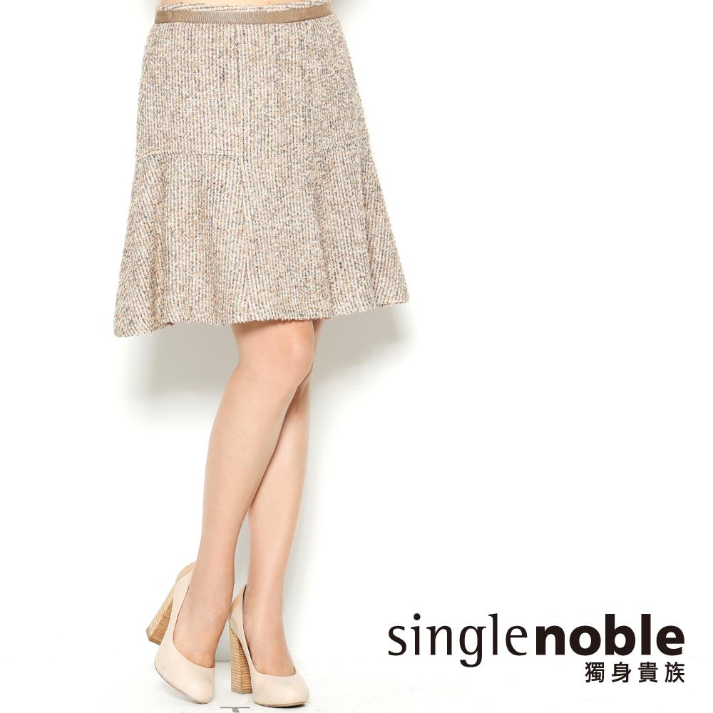 獨身貴族 品味優雅 散襬軟呢及膝短裙(共一色)