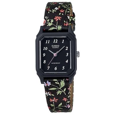CASIO 復古花圖騰時尚風指針腕錶(LQ-142LB-1B)黑/22.5mm