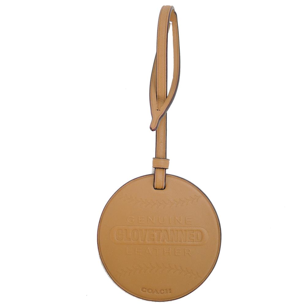 COACH 專櫃款棒球造型皮革裝飾(棕)COACH