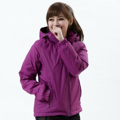 【遊遍天下】Globetex女款JIS90%羽絨防風防水貼條機能羽絨外套A001紫色