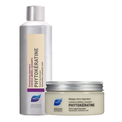 *PHYTO 水潤修護護理2入組(洗200ml+髮膜200ml)