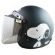 史奴比SNOOPY4/3罩安全帽消光黑(小帽圍54~57 cm含贈送的長鏡片) product thumbnail 1