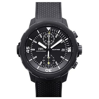 IWC 萬國錶 海洋時計計時IP黑橡膠腕錶( IW379502)-44mm