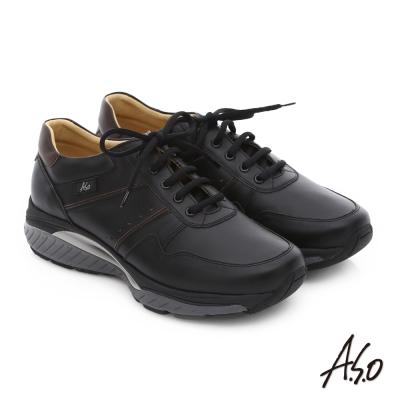 A.S.O 前彈性後避震IV 舒適超動力勁步男鞋 黑