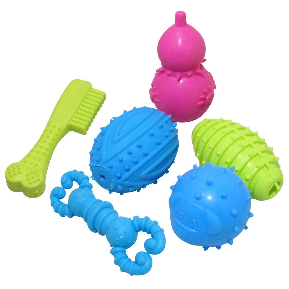 環保無毒TPR磨牙健齒橡膠造型玩具(2入)