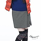 OUWEY歐薇 不規則裙片設計短裙(灰/藍)