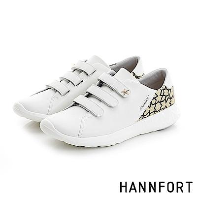 HANNFORT ICE魔術帶氣墊運動休閒鞋-女-星彩金