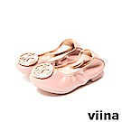 viina-親子鞋系列-LOGO鏡面摺疊鞋(童) -粉色
