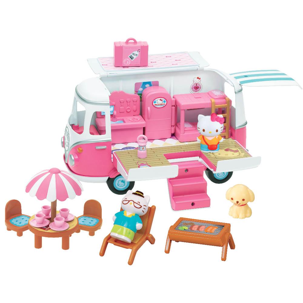 Hello Kitty 凱蒂貓兒童玩具 Kitty粉紅露營車 18022