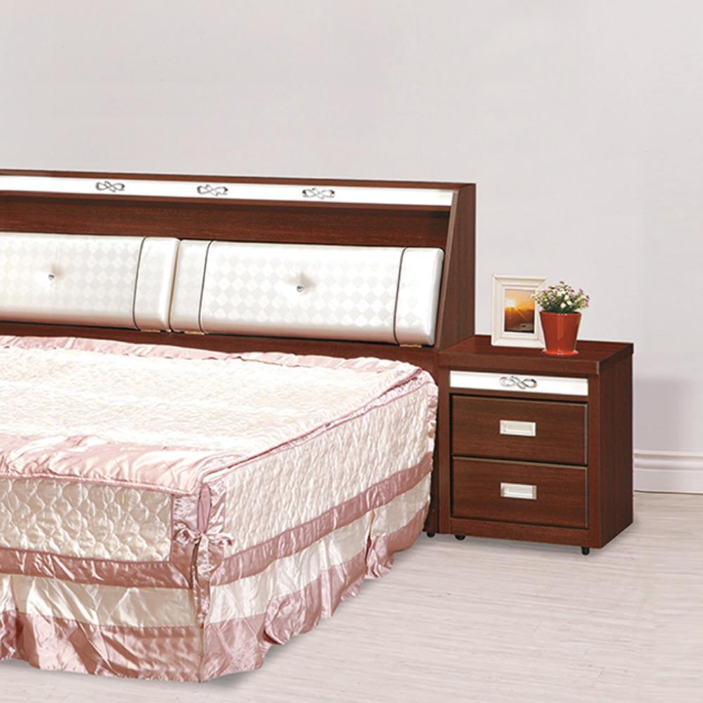 AS-亞爾弗列得淺胡桃色床頭櫃-50x40x55cm