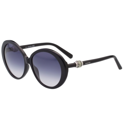 SWAROVSKI太陽眼鏡-圓框-黑色-SW130