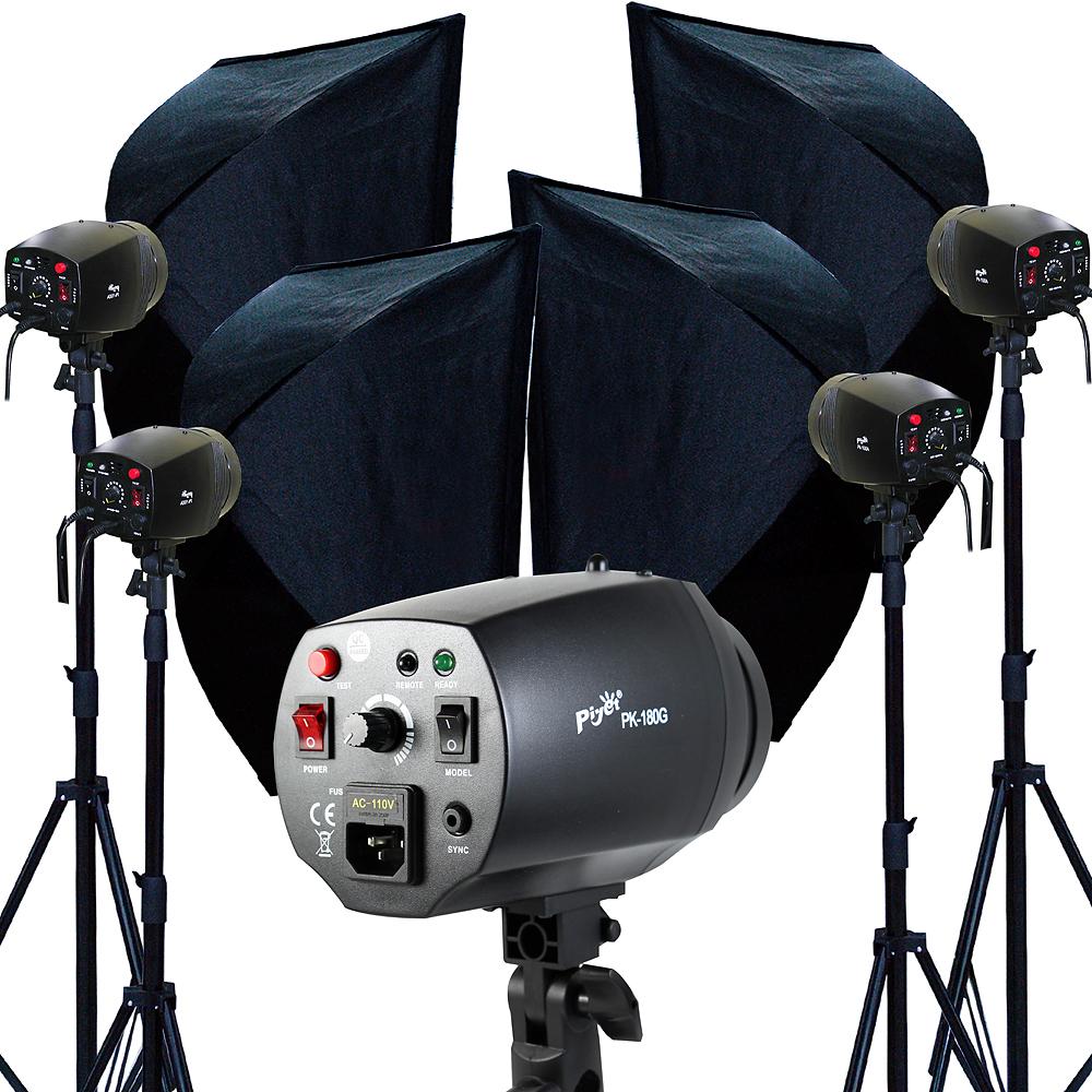 Piyet 專業攝影棚四燈組合 ( PK180G )