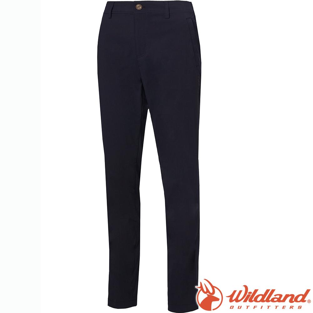 Wildland 荒野 0A61305-54黑 女彈性透氣抗UV直筒長褲