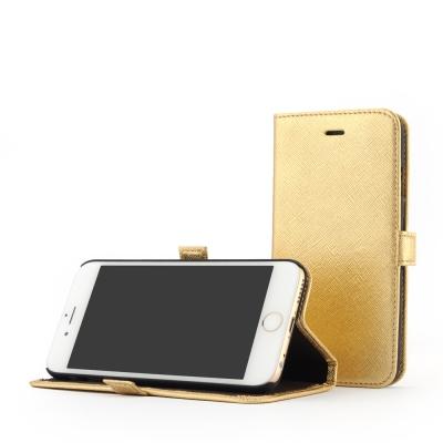 STORY皮套王 iphone 6 /6s  摺邊折疊式 十字紋金現貨皮套