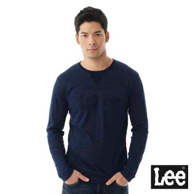 Lee 101+ INDIGO圓領長袖T恤/101+-男款-藍