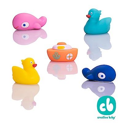 Spuddies水上樂園噴水洗澡玩具5入/組