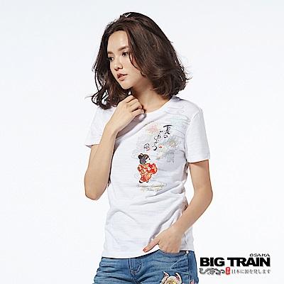 BIG TRAIN 夏日娃娃短袖女款-女-白色