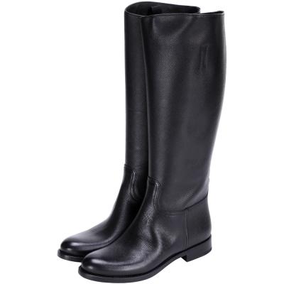 PRADA 黑色防刮小牛皮長靴(展示品)