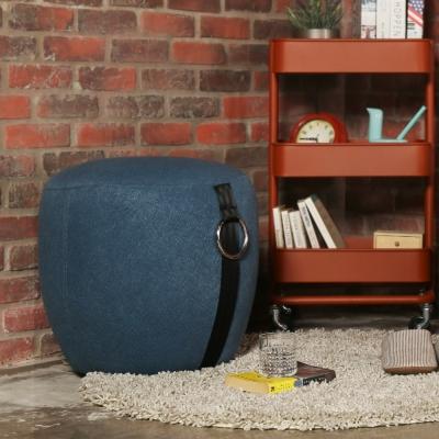 H&D Benson 班森個性風格造型腳凳-47*47cm/多色選