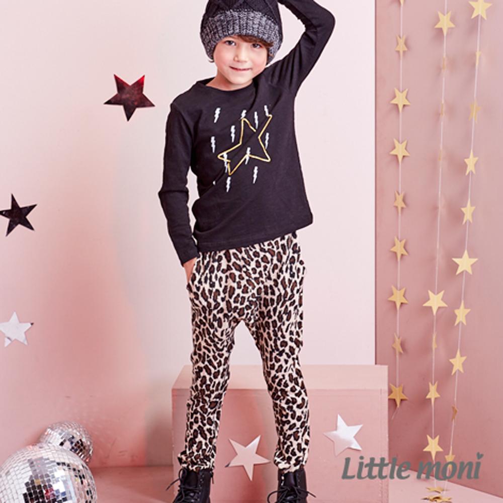 Little moni 豹紋哈倫褲 咖啡