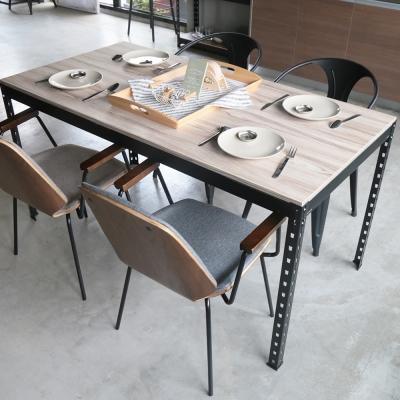 H&D 角鋼美學-工業風免鎖角鋼餐桌/工作桌-4色(152x76x75cm)