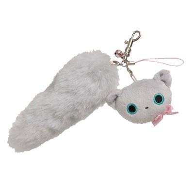 小襪貓貓掌系列貓尾巴絨毛吊飾-小灰貓