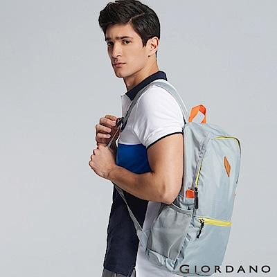 GIORDANO 運動休閒輕雙肩後背包 - 02 聖地灰