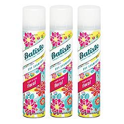 *Batiste 秀髮乾洗噴劑 花漾玫瑰200mlx3入