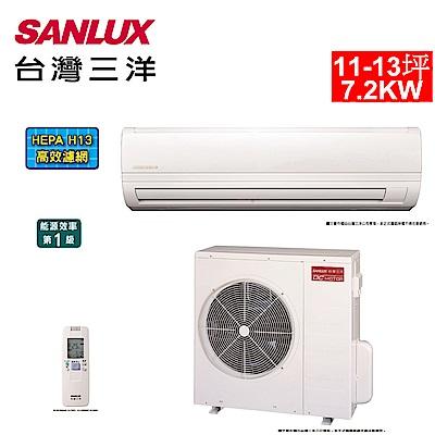 台灣三洋SANLUX 11-13坪精品變頻一對一分離式冷氣SAE/C-72V7