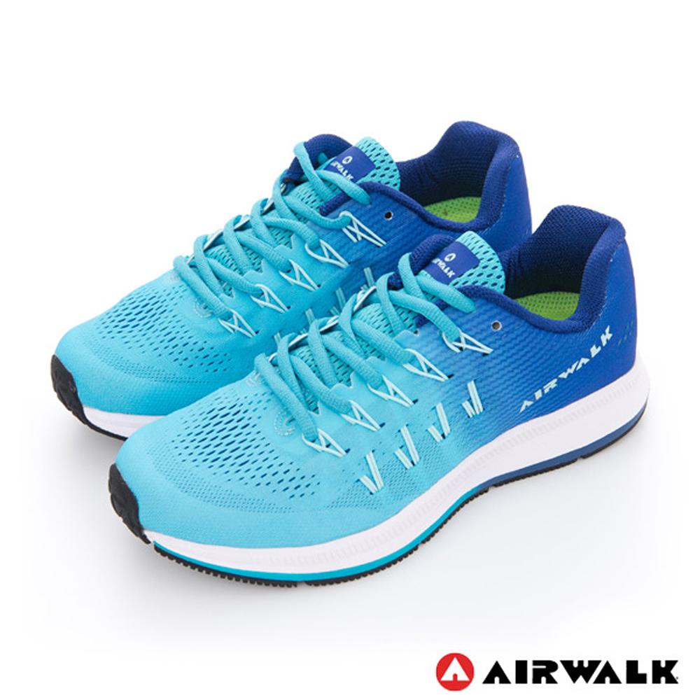 美國 AIRWALK網狀透氣慢跑鞋 運動鞋 女款漸層藍