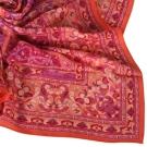 Christian Dior 羅曼式雕花圖紋大領巾-橘紅色