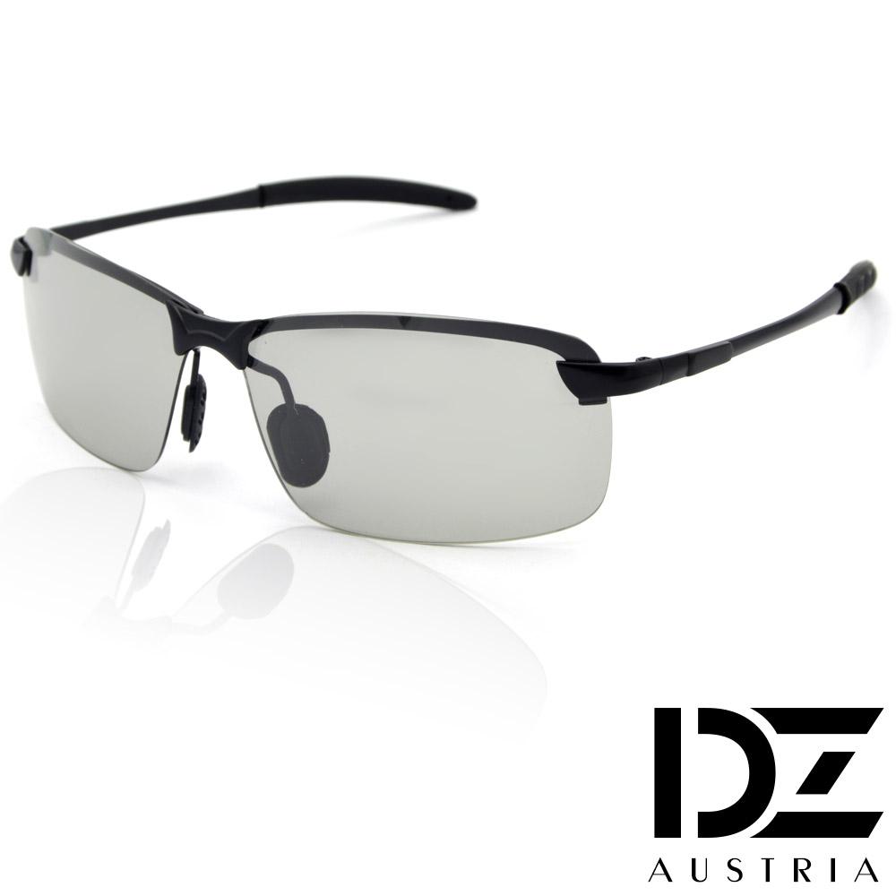 【滿千69折】DZ 型潮格調變色片 抗UV 偏光 太陽眼鏡墨鏡(黑框)
