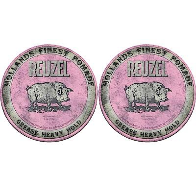 REUZEL 粉紅豬 水洗式髮油113g (2入)