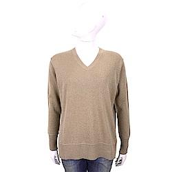 ALLUDE 喀什米爾側3D剪裁大地棕針織羊毛衫