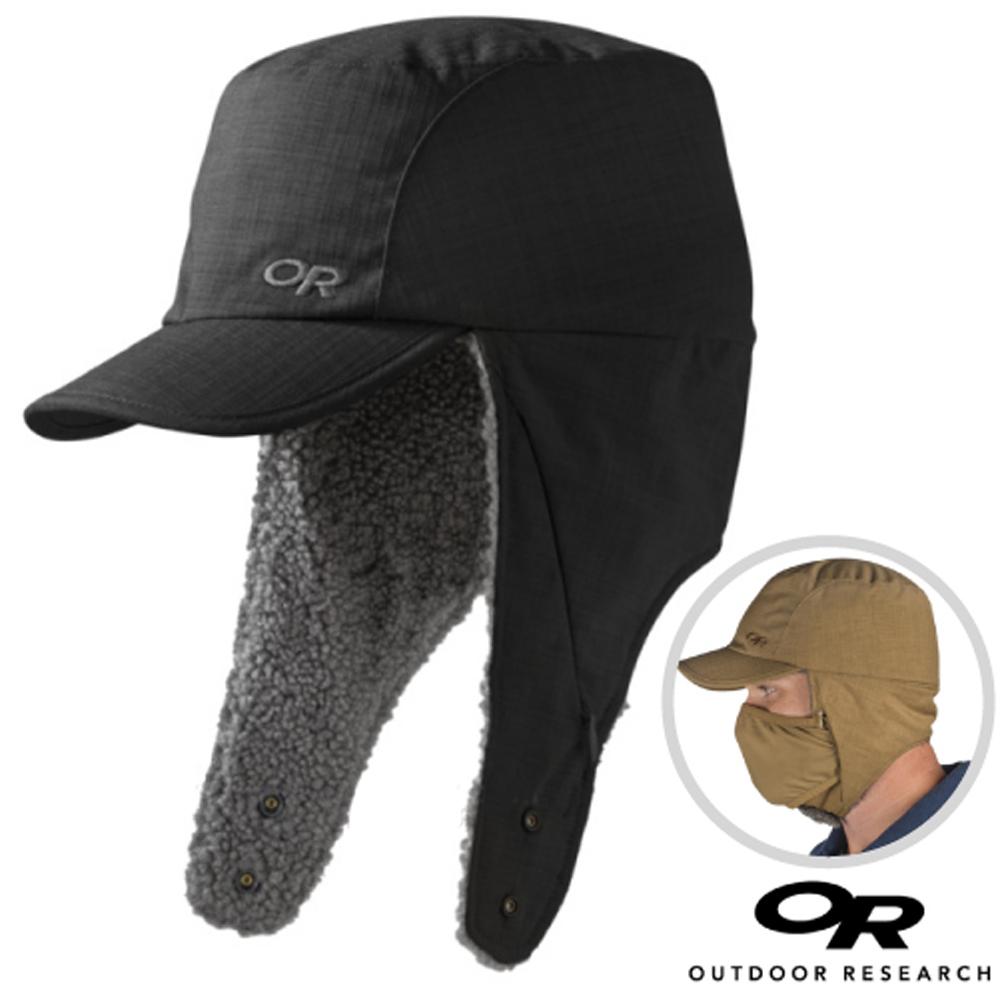 【美國 Outdoor Research】輕量透氣排汗保暖護耳帽子.刷毛帽_黑
