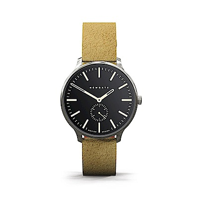 Newgate-BLIP-經典小秒針-麂皮駝-麂皮錶帶-40mm