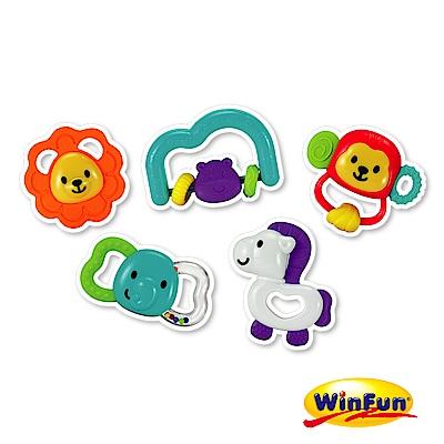 WinFun 動物手搖鈴5件組