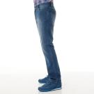 【hilltop山頂鳥】男款THERMOLITE保暖牛仔長褲H31MJ1-藍