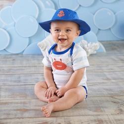 Baby Aspen 小螃蟹短袖上衣帽子二件式彌月禮組