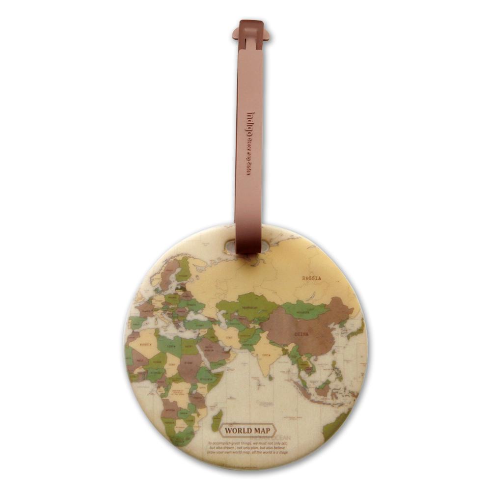FUNZAKKA 世界地圖旅行吊牌-復古