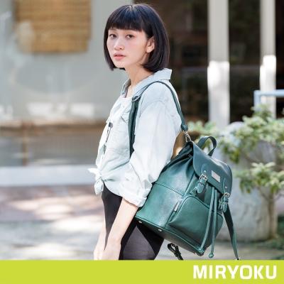 MIRYOKU青春斜紋系列-活潑束繩兩用後背包-共4色